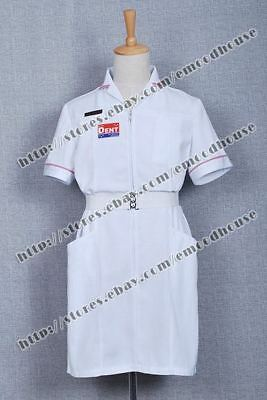Batman Joker Cosplay Costume White Nurse Uniform Classic Dress Halloween Outfit - Joker Nurse Costume Halloween