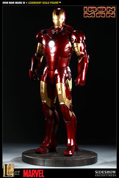 Sideshow Iron Man Mark 3 Iii 1/2 Legendary Scale Full Size Statue Not Hot Toys