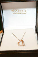 10 Carat rose gold heart necklace
