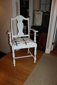 Arm chair painted white