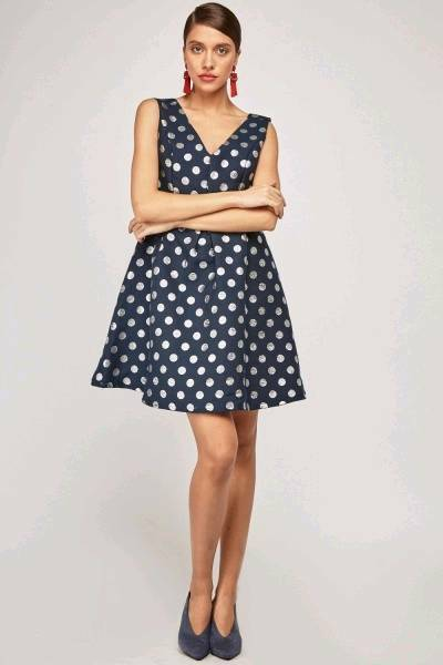 cb88d0a3d6e7 Metallic Polka Dot Skater Dress size 12. Condition is New with tags. 2  colours available