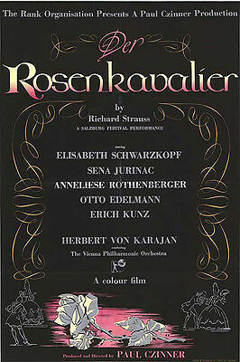 DER ROSENKAVALIER orig 1967 one sheet poster RICHARD STRAUSS/SALZBURG FESTIVAL