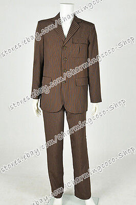 Costume Purchase (Doctor Purchase Who Brown Dr Strip Suit Halloween Party Man Coat Cosplay)