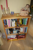 Solid wood bookcase 26l x 10w x 35h