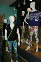 Female Mannequins, Clothing Store fixtures, Outriggers, Showcase