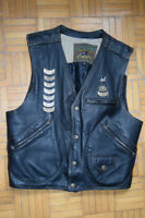 Leather vest Harley Davidson style