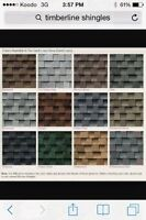 (Lots) of different laminated shingles. 6 of this, 5 of that