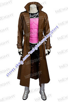 Gambit Costume Halloween (X Men Cosplay Gambit Remy LeBeau Costume Halloween Uniform Deluxe Outfit)