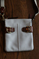 Coach Leather Cross Body Purse - White