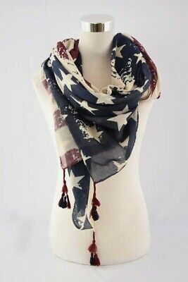 Scarf Pattern - American Flag pattern, wrap, light weigh, soft, 4th of july, regular scarf.