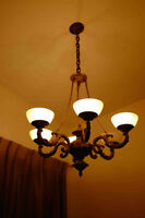 BEAUTIFUL CHANDELIER-STYLE ART DECO FIXTURE MUST SEE!