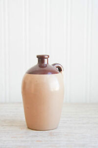 Vintage Miniature Glass Crock / Jug, Two-Tone Brown Kitchener / Waterloo Kitchener Area image 1