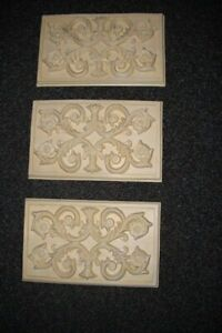 Dimensional Plaster Wall Plaques, set of 3