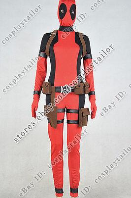 X-Men Deadpool Cosplay Lady Jumpsuit Costume Female Outfits Uniform Party - Xmen Female Costumes