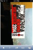 Selling 2 Spartan Race Tickets ($45 each)