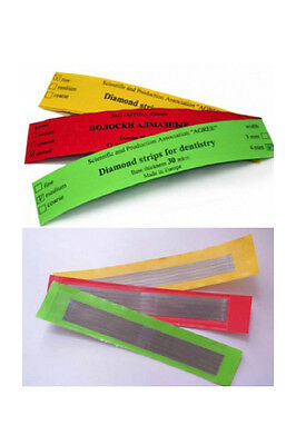 3x 5pcs Dental Abrasive Diamond Stainless Steel Strips Finishing Polishing