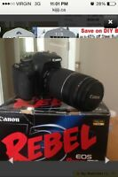 Canon T3i and 75-300mm zoom lens