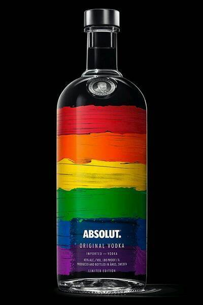 EMPTY 700ml Limited Edition RAINBOW FLAG LGBT London Pride ABSOLUT VODKA Bottle