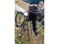 Outboard 30 Hp evinrude 2 stroke short electric start