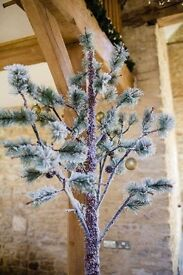 Snowy evergreen artificial Christmas festive trees x3 available