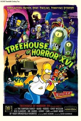 Simpsons Halloween A.I. Bart Selma Patty Kang Kodos Treehouse of Horror XVI Art - I Simpson Halloween