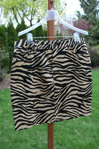 RALPH LAUREN Zebra Print Skirt: Size 14 Petite (Like New)