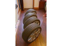 "BK Racing Eclipse 17"" 4x Tyres Wheels Alloys Peugeot"