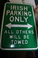 Assorted Novelty Collectable Embossed Steel Street Signs