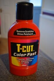 T-Cut color fast red (cleans, shines & restores in one)- nearly full bottle