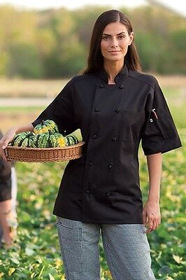 Uncommon Threads, Antigua Chef Coat, 10 Knot Buttons, Short Sleeve, XS-6XL -