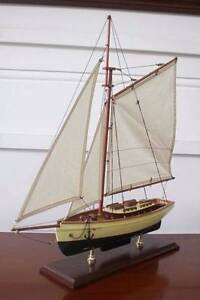 Handmade Timber 1930's Classic Replica Model Yacht Boat Nautical Sydney City Inner Sydney Preview
