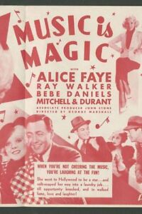Music Is Magic - 1935 Alice Faye Bebe Daniels Marshall Vintage Musical Film DVD