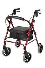 MOBILITY WALKER - Sturdy 4 Wheel Red Frame - Near New Jerrabomberra Queanbeyan Area Preview