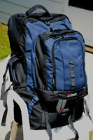 2 Chinook back packs, used once, 65 litre and 75 litre