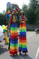 Balloon Twisters, Stilt Walkers, Clowns, Crazy Costumes and more
