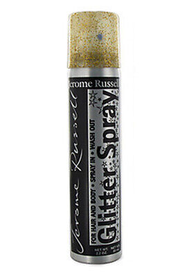 Jerome Russell Glitter Spray For Hair & Body Gold Color 2.2 - Spray Colour For Hair