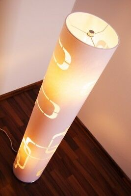 Stehlampe Moderne Bodenleuchte Stehleuchte Chrom Bodenlampe weiß Standleuchte  - Chrom Moderne Stehleuchte
