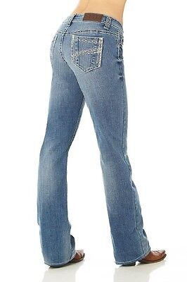 Cowgirl Up Women's Rope Trick Light Stone Boot Cut Embroidery Jeans CGJ30903 NWT](Light Up Cowgirl Boots)