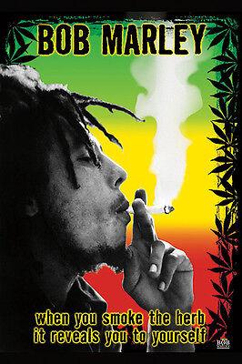 Bob Marley - Smoke Herb Unknown/Anon Novelty Music Print Poster 24x36 Bob Marley Smoke Herb