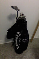 SET OF 13 CALLAWAY GOLF CLUBS WITH BAG IN VERY GOOD CONDITION