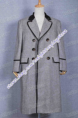Love Doctor Costume - The Fourth Doctor Coat Who is Dr Tom Baker Costume Long Outfit Halloween Lovely