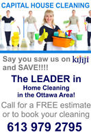 Ottawa Home AND House Cleaning  OTTAWAS BEST  613-979-2795