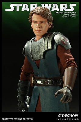 GENERAL ANAKIN SKYWALKER~CLONE WARS~SIXTH SCALE FIGURE~EXCLUSIVE~SIDESHOW~MIB
