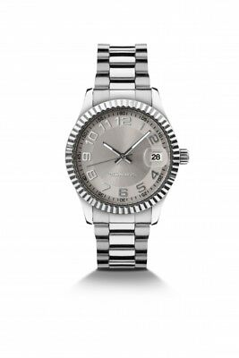 TAMARIS Uhr Debby B07000360 Damen Armbanduhr Edelstahl Datum silber-farbig