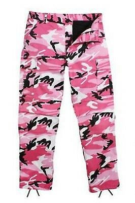 Ultra Force Camo (PINK CAMO ULTRA FORCE BDU CAMOUFLAGE PANTS TROUSERS HOSE Large Regular)