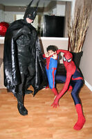 SUPERHERO PARTIES- Invite a REAL SUPERHERO
