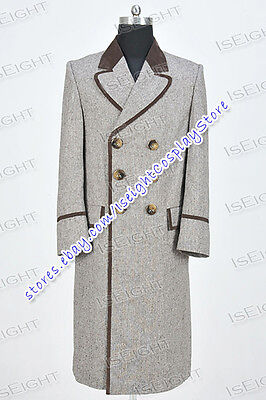 We Make Doctor For Who The Fourth 4th Dr.Wenge Costume Long Coat Halloween - Making Halloween Costumes For Adults