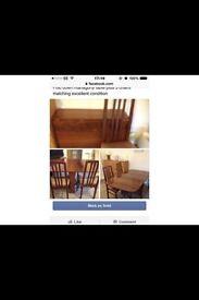 Table mahogany chairs