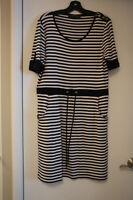 robe rayée noir et blanc