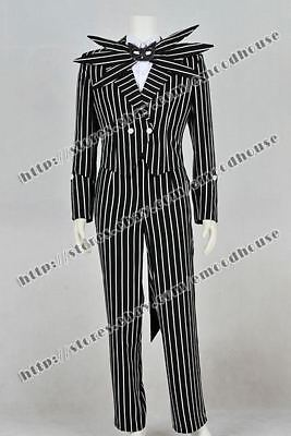 The Nightmare Before Christmas Jack Skellington Cosplay Costume Suit Outfit Cool](Jack Skellington Outfit)